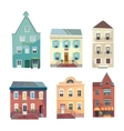 set city buildings shops and groceries in a vector image vector image