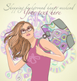 shopping and fashion vector image vector image
