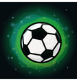 soccer ball on green background vector image vector image