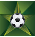 Soccer Ball on Rays Background6 vector image vector image