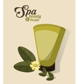 spa beauty and health body lotion cosmetic vector image vector image
