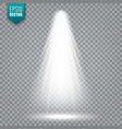 spotlight bright light beam transparent vector image