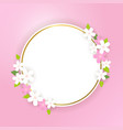spring banner background with flower frame in vector image vector image