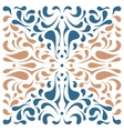 Square dual color ornament with blue and beige vector image vector image