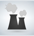 stock of nuclear power plant in flat style power vector image