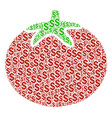 tomato vegetable composition of dollar vector image vector image