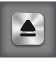 Up arrow icon - metal app button vector image vector image
