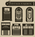 Vintage jukebox I vector image vector image