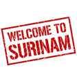 welcome to surinam stamp vector image vector image