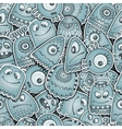 Alien and monsters seamless pattern vector image