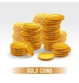 Gold coins pile vector image