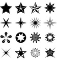 Stars icons set vector image