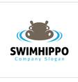 Swim hippo Design vector image