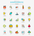 Line flat icons set 5 vector image