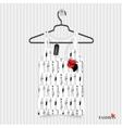 Print for T-shirt - fashion vector image