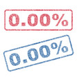 000 percent textile stamps vector image vector image