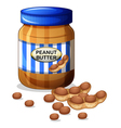 A jar of peanut butter vector image