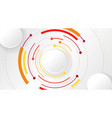 abstract background with color circle line on vector image
