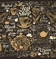 abstract seamless pattern on tea theme vector image