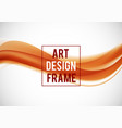 abstract soft art design template vector image vector image