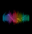 abstract soundwaves background vector image