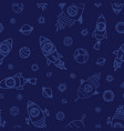 astronaut space animals on blue background vector image vector image