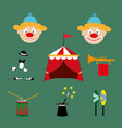 attributes of the circus vector image vector image