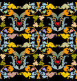 baroque colorful embroidery seamless pattern vector image vector image