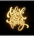 black friday sale glow lettering vector image