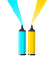 blue and yellow pencil vector image