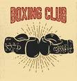 boxing club boxing gloves on grunge background vector image vector image