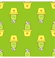 cactus in a pot seamless pattern vector image