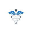 caduceus related glyph icon vector image vector image