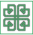 Celtic endless knot in square clover shape vector image vector image
