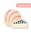 cheesecake ice cream summer cold dessert vector image vector image