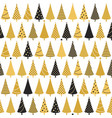 christmas trees seamless background vector image