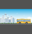 city transport service bus with passengers on vector image
