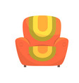 colorful comfortable armchair vector image vector image