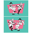 country dancers design vector image
