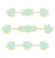 daisy flowers pastel linear patterns vector image