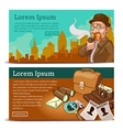 Detective Agency Horizontal Banners vector image vector image