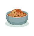 dish of beans traditional indian cuisine food vector image