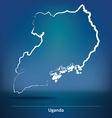 Doodle Map of Uganda vector image vector image