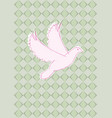 dove with background vector image vector image