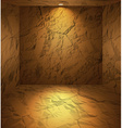 Dug room with earthen walls vector image vector image