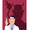Fear of vaccination vector image