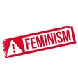 Feminism rubber stamp vector image vector image