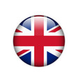 flag of great britain on a button vector image