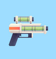 flat cartoon sci-fi gun blaster with acid liquid vector image vector image