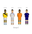 Football teams Group C - Colombia Greece Ivory vector image